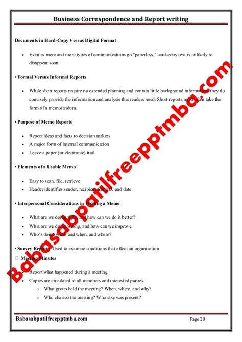 Mba In Telecom Management Syllabus by Business Communication Report Writing Skills Essay