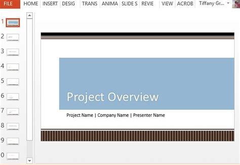 Project Overview Powerpoint Template Powerpoint Presentation Project Overview Template Powerpoint