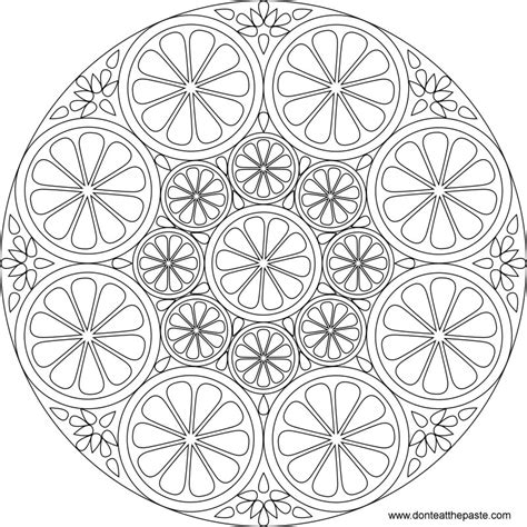 coloringcastle com mandala coloring pages html don t eat the paste citrus mandala to color