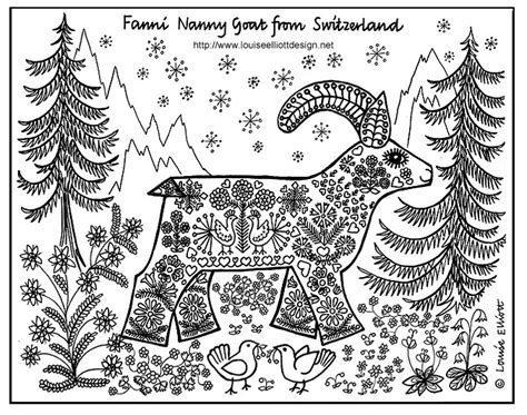 louise elliott animal kits  coloring pages