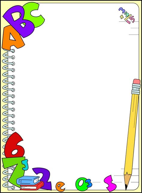 imagenes infantiles utiles escolares rayito de colores marcos escolares