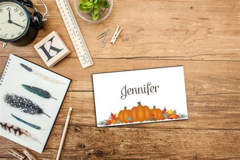 thanksgiving dinner place cards template printable pumpkin patch thanksgiving dinner personalizable