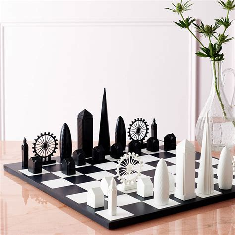 gift for architect london skyline architectural chess set by skyline chess