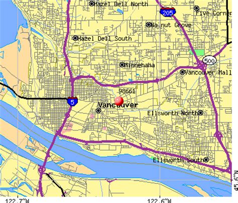 zip code maps vancouver wa clark county washington map