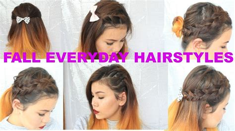 easy going out hairstyles youtube 8 quick and easy cute fall hairstyles for everyday