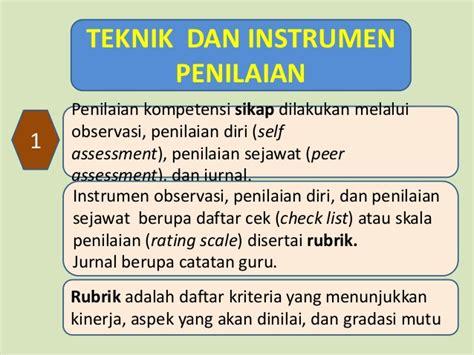 instrumen evaluasi diri penilaian kinerja guru materi 1 paparan model penilaian