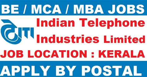 Internship For Mba Students In Kochi by Indian Telephone Industries Limited Itil Kerala