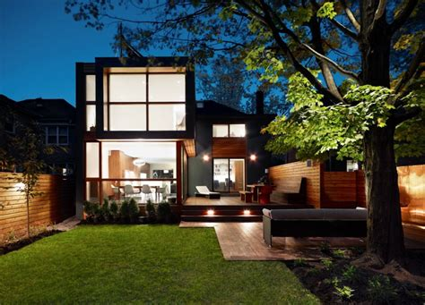 post house post war house converted into modern residence in canada