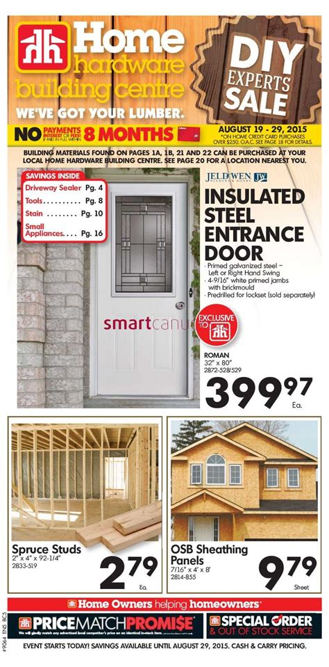 home hardware home hardware building centre bc flyer august 19 to 29