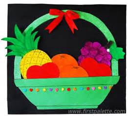 fruit basket craft kids crafts firstpalette