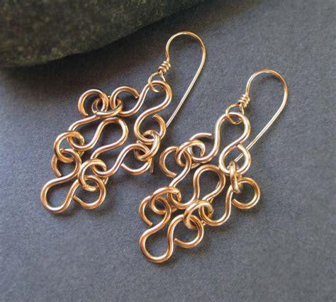 Handmade Gold Earrings - 14k gold filled earrings gold filigree earrings artisan