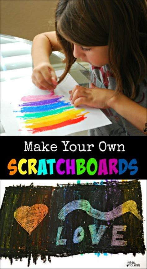 Make Your Own Color Paper - make your own scratch paper mess for less