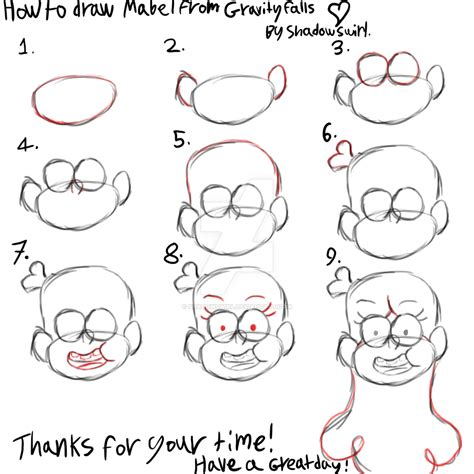 how to make doodle tutorial how to draw mabel from gravity falls tutorial by