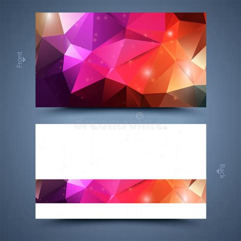 Colored Line Template Business Cards by Color Business Card Template Abstract Background Stock