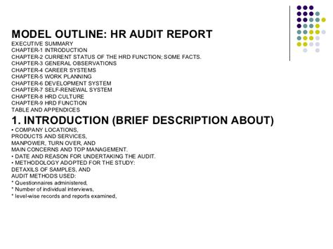 sle hr audit report hr audit report template hr www k