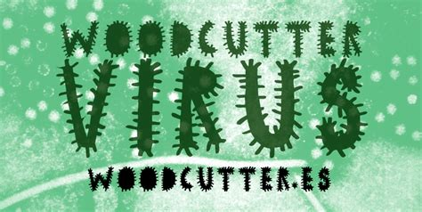 dafont virus woodcutter virus font dafont com