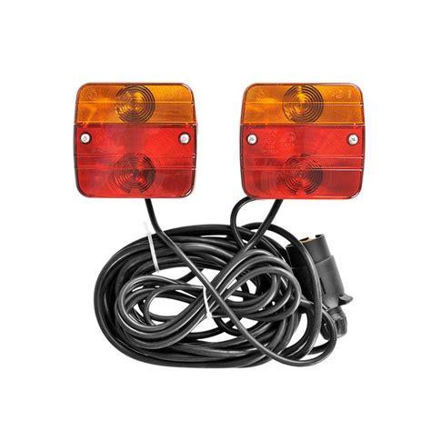 verlichtingsbalk gamma aanhangerverlichtingsset met magneten 7 5 2 5m kabel