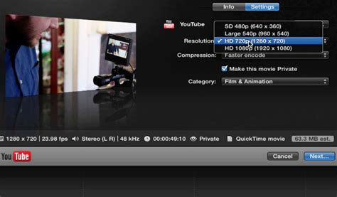 final cut pro youtube export exporting a master file from final cut pro x videomaker com