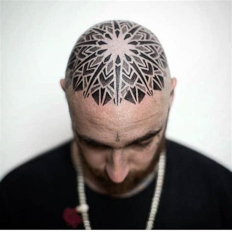 mandala head tattoo mandala on the