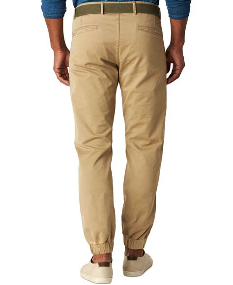 Cotton Alpha Numeric Magic Sand 1 lyst dockers slim fit alpha joggers in for