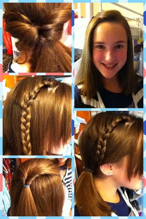 easy school day hairstyles day of school cheer and hairstyles on