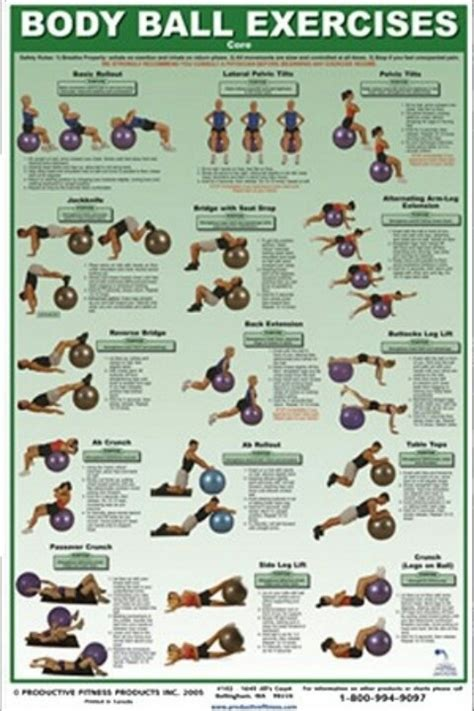 printable exercise ball routines body ball exercises getting my workout on pinterest