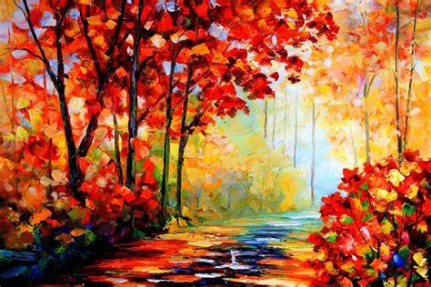 autumn oil painting wallpaper  thanh revelwallpapersnet