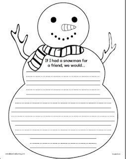 free printable snowman writing template best photos of snowman writing template snowman writing