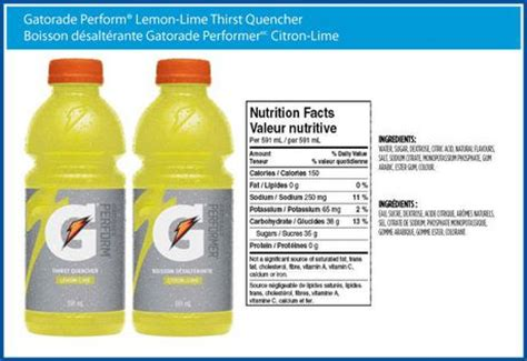 printable gatorade label gatorade perform lemon lime walmart ca