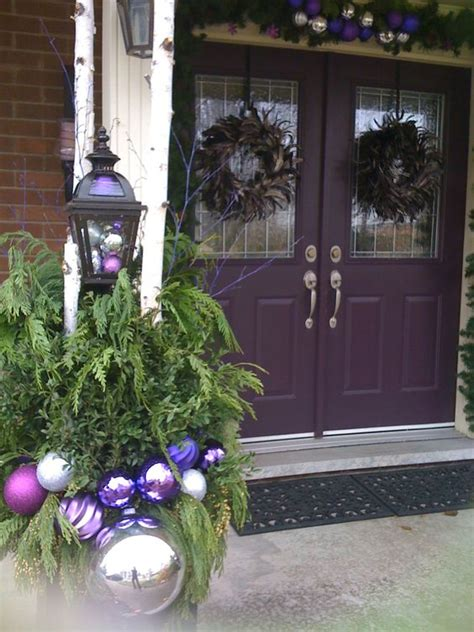 purple christmas theme this was my exterior design for my