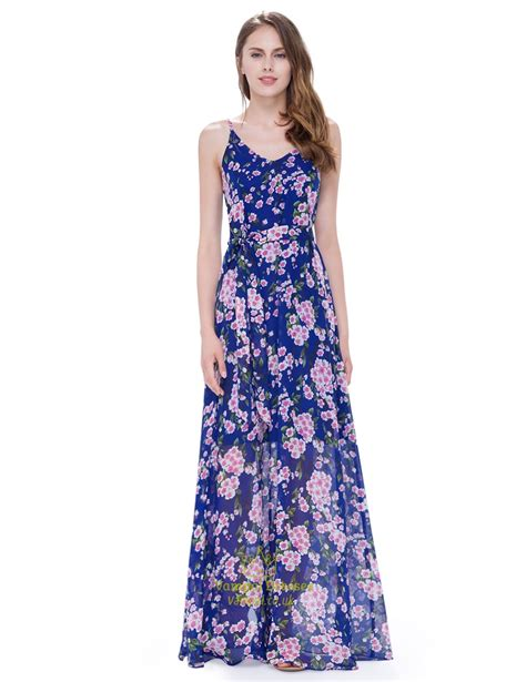 Floor Length Dresses Uk by S Floral Spaghetti Floor Length Casual Summer