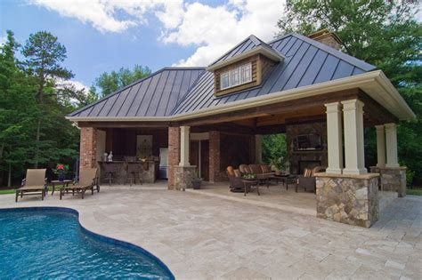 house plans with pools and outdoor kitchens pin by tom k on pool house cabanas pinterest