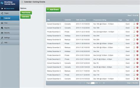 Cms Calendar Managing Events With Silverstripe A New Calendar Module