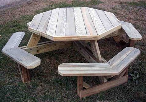 Octagon Patio Table Plans Diy Octagon Picnic Table Plans Chairs Seating
