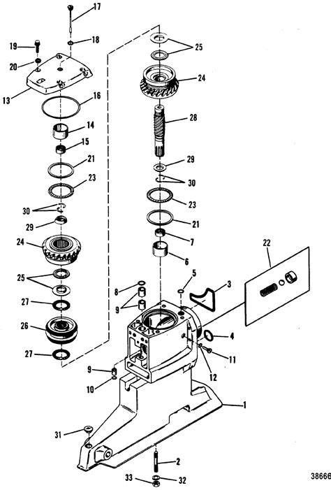 mercruiser outdrive parts diagram driveshaft housing and drive gears for mercruiser bravo i