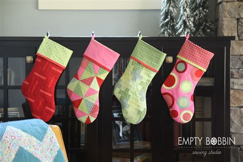 pattern for sewing a christmas stocking christmas stockings in july empty bobbin sewing studio