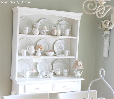 a dreamy hutch display of family home