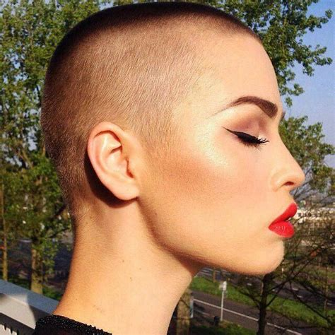 ladies bald haircut video 88 best bald is beautiful images on pinterest bald women