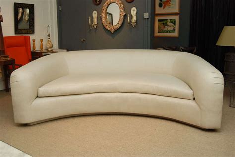 Crescent Shaped Sofa by A Pair Of Crescent Shaped Sofas At 1stdibs