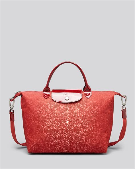 Termurah Longch Le Pliage Neo Poppy longch tote le pliage neo printed medium in poppy lyst
