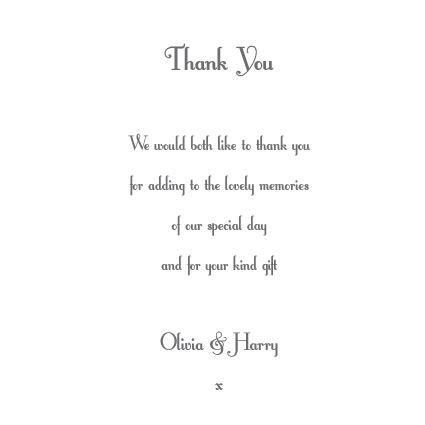 wedding thank you card wording sles 20 best images about in memory of on