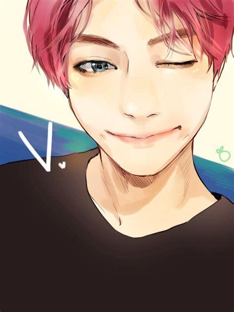 V Anime Fanart by V Fanart Random K Idols Wallpaper Bts