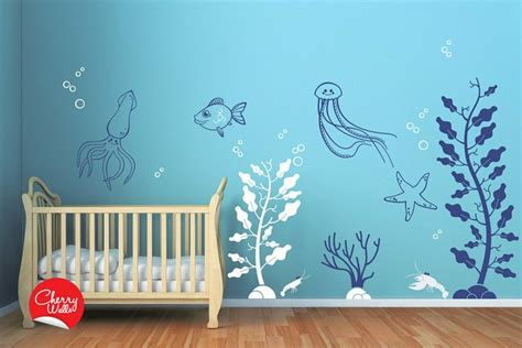 Deep Sea Wall Decals For Baby Nursery Underwater Themed The Sea Wall Decals Nursery