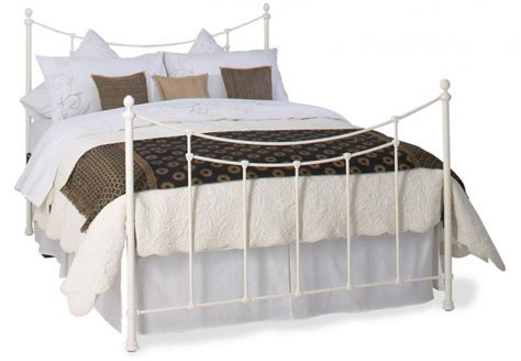 Metal Headboards Single by Obc Winchester 3ft Single Glossy Ivory Metal Headboard By