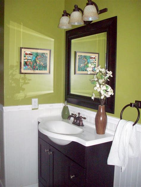 Green And Brown Bathroom | colorful bathrooms from hgtv fans bathroom ideas