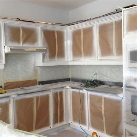 spray painting kitchen base cabinets kick plates crowns