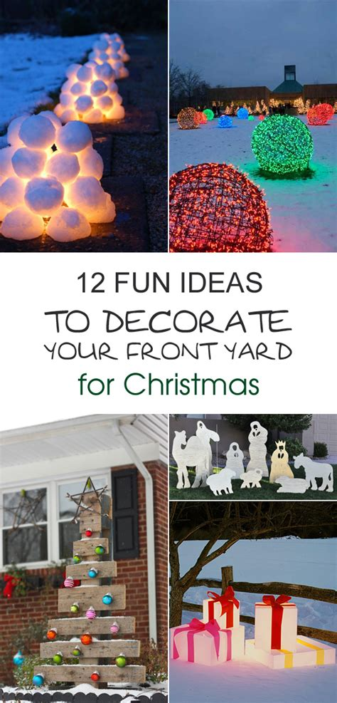 12 fun ideas to decorate your front yard for christmas