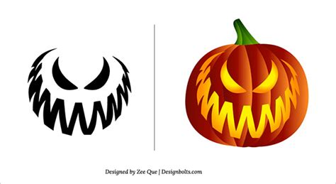 10 free halloween scary cool pumpkin carving stencils super scary pumpkin carving patterns