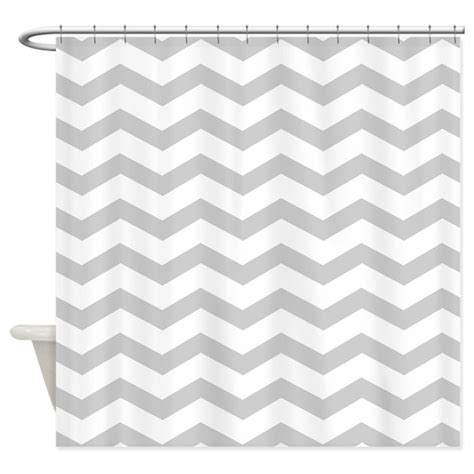 chevron pattern in grey grey chevron pattern shower curtain by inspirationzstore