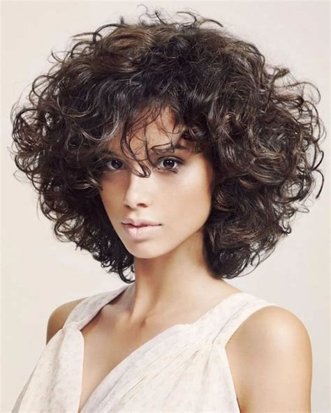 different hairstyles for short layered kinky curly hair curly or wavy short haircuts for 2018 25 great short bob